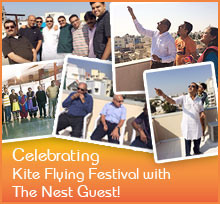 Kite flying festival with the nest guest